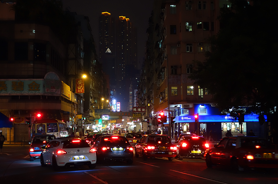 Nighttime Kowloon