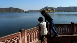 'Jal Mahal' - Jal Mahal in Man Sagar Lake, Jaipur, Rajasthan, India, 2011